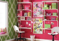 Modelos de escrivaninhas para quarto de crianças! http://www.mildicasdemae.com.br/2014/04/escrivaninhas-para-quarto-de-crianca.html
