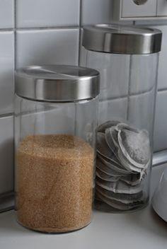 Aufbewahrung in der Küche- Ordnung schaffen mit glas. Storage in the kitchen - Organize kitchen