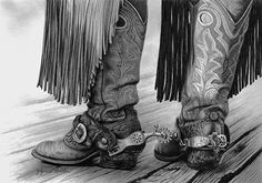 "Charcoal Drawing Realistic ""Red Boots"" ~ Glynnis Miller Pencil ~ x Old Cowboy Boots, Cowboy Horse, Cowboy Art, Graphite Drawings, Cool Drawings, Pencil Drawings, Charcoal Drawings, Pencil Art, Still Life Drawing"