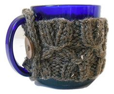 Knit Coffee Mug Cozy, Cup Sleeve, Mug Sweater -- Trust me, this is great! Click the image. : Handmade Gifts