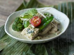 Grünes Thai Curry mit Hähnchen