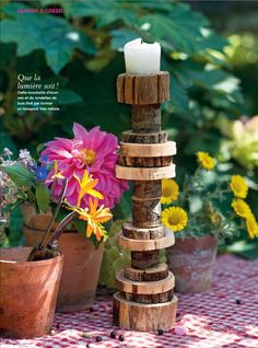 outdoor candle sticks-marie claire idees, summer 2012