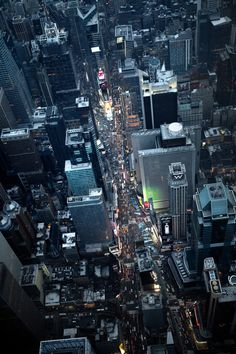 NYC. Times Square from above