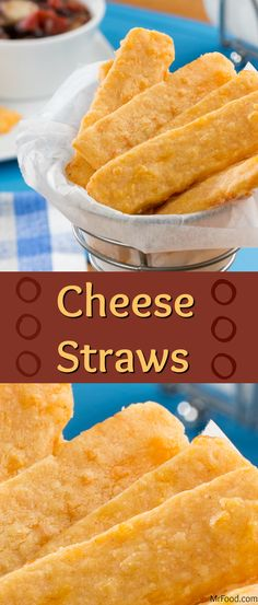 These Cheese Straws are a favorite 'cause they're easy to make and tasty as can be. They're just as great for snack time as they are for dipping into a bowl of soup or chili.