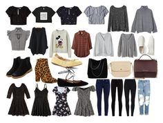 """wardrobe 1"" by rachaelmccabe ❤ liked on Polyvore featuring Hollister Co., Topshop, Gucci, Gap, Marissa Webb, WithChic, Uniqlo, RVCA, MANGO and Raye"