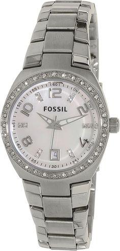 Fossil Womens Flash AM4141 Silver Stainless-Steel Analog Quartz Fashion Watch