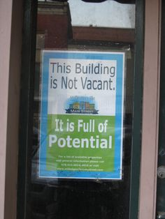 This building is not vacant - it is full of potential. Combined with Candy Chang's 'I wish this was' you could ask the community what that potential is. #IAP2