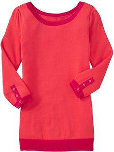 Old Navy - Women's Button-Back 3/4-Sleeve Pullovers ($24.95). Adorable with skinny jeans and work clothes!