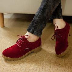 Fashion brockden autumn vintage lacing low flat all-match fashion women's oxford shoes $27.99