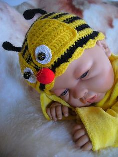 Bee Baby Hat by Tanja Enzinger