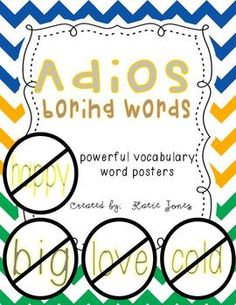 Adios Boring Words {Powerful Word Posters}
