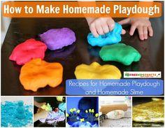 UPDATED! How to Make Homemade Playdough: 29 Recipes for Homemade Playdough and Homemade Slime
