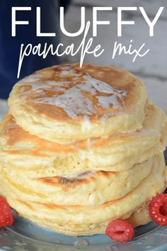 Once you try this fluffy pancake mix, you will always want it on hand! Easy to follow recipe for perfectly fluffy pancakes every time. Smoked Meat Recipes, Oven Recipes, Top Recipes, Kitchen Recipes, Cooking Recipes, Pancake Recipes, Vegetarian Cooking, Yummy Recipes, Recipies