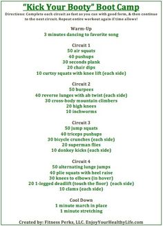 ~My favorite part? The warm up! Boot Camp Style Workout workouts workouts