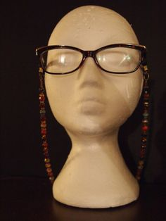 Multicolored necklace eyeglass holder by TheFACEspace on Etsy, $10.00