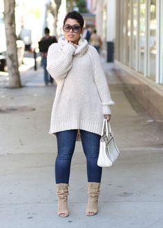 Huge Sweater + The Best Boots Ever!!! - Mimi G Style