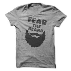 [Popular Tshirt name tags] Fear The Beard Funny Shirt Coupon Today Hoodies, Funny Tee Shirts