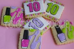 mani-pedi birthday cookies