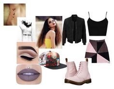 """""""Promise Rova (Glee)"""" by cutegurl112 ❤ liked on Polyvore featuring Florence Bridge, Dr. Martens, Marvel, Jeffree Star, Topshop and LE3NO"""