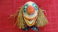 Sale Item...Vintage Dildi Larve Paper Mache Clown Mask From 1940s by tennesseehills, $35.00