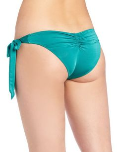 Kiss A Girl Sweetheart Single Hip Piece Bottom Jade Color Back. More Info & Check Price:  http://www.beachbunnybikini.com/beach-bunny-bikini-kiss-a-girl-sweetheart-single-hip-piece-bottom/