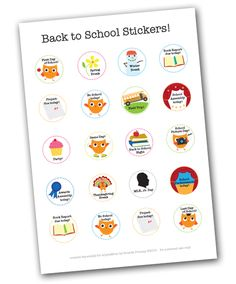 School Events Calendar Stickers #printable and free.