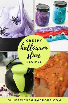 Slimy fun is on the agenda for October with these squishy, creepy slime recipes! Halloween Crafts For Kids To Make, Halloween Activities For Kids, Holiday Crafts For Kids, Halloween Kids, Holiday Fun, Halloween 2020, Halloween Stuff, Halloween Party, Halloween Candy Bar