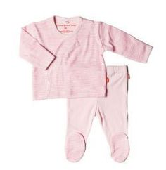Magnificent Baby Girl's Birch L/S Kimono & Pants