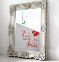 Message on mirror; vinyl projects; silhouette cameo projects... would be really cute for a little girls room!