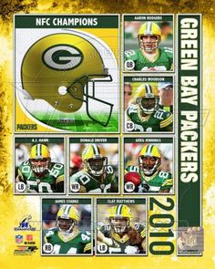 Photofile Green Bay Packers 2010 NFC Championship Composite Sports Photo - 8 x 10 Packers Gear, Packers Baby, Packers Football, Football Gear, Green Packers, Nfl Green Bay, Division, Donald Driver, College World Series