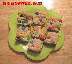 The Better Baker: M & M Oatmeal Cookie Bars