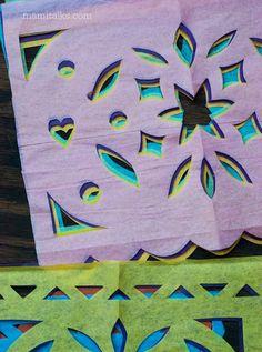 Plantillas para hacer tu proipio papel picado y decorar en el día de los muertos -MamiTalks.com