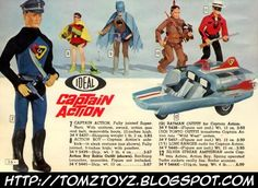 BAT - BLOG : BATMAN TOYS and COLLECTIBLES: CAPTAIN ACTION DOLL Batman & Robin Costume Outfits VINTAGE TOY AD from 1967
