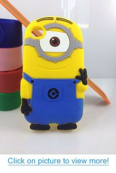 Case Mama Despicable Me Yellow Minions 3D Soft Silicone Case Defender Cover (iPhone4 4s One Eye)