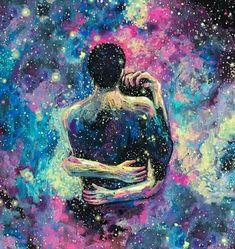'Me perco no universo do teu abraço. Teu aconchego é feito luar.'
