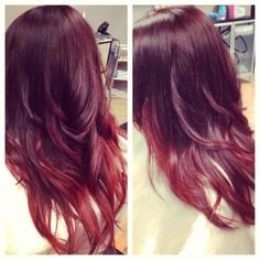 red sombre hair - Google Search