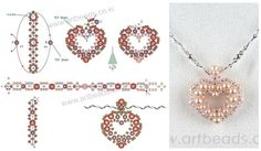 """Pendants and charms """"Hearts"""" (Several different patterns.)"""