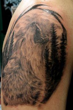 Howling Wolf Tattoo by BenZoArt.deviantart.com on @deviantART