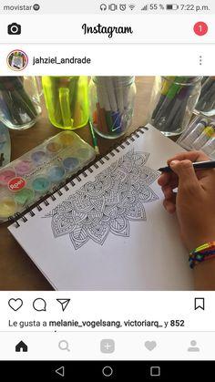 Easy Mandala Drawing, Mandala Doodle, Simple Mandala, Doodle Art Drawing, Mandala Artwork, Cool Art Drawings, Dibujos Zentangle Art, Sharpie Art, Sharpies