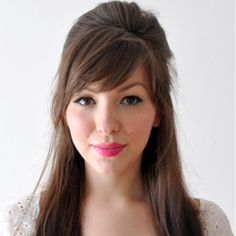 Pretty 2 in 1 Bridal Hair Tutorial ~ hair half up with side swept bangs OR hair up with a boho braid to add interest