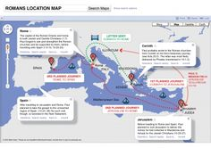 Romans map. Plus lots more summarized and simplified visuals/pictorials/charts that make the Bible easier to understand!