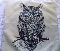 U.S. SELLER Vintage Owl Home Bed Decor Cushion Pillow Throw Cover Case #Piccocasa