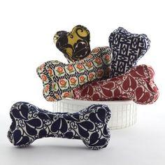 Dog toys in Weiner Werkstatte fabrics from Neue Galerie, NYC
