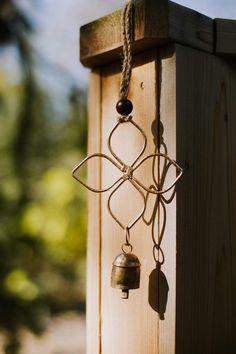 Copper Crafts, Diy Wind Chimes, Prayer Flags, White Magic, Ancient Symbols, Hand Shapes, Wood Accents, Diy Door, Quatrefoil