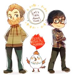 Good Mythical Morning by ROSEL-D.deviantart.com on @DeviantArt. RHETT AND LINKK