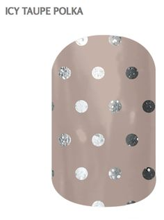 Jamberry Nail Wraps~ Icy Taupe Polka~Half Sheet: Jamberry nail wraps offer the hottest trend in fashion. Wrap your nails in over 300 different designs. Jamberry Fall, Jamberry Nail Wraps, Cute Nails, Pretty Nails, Nail Designs 2014, Wall Nails, Polka Dot Nails, Polka Dots, Accent Nails