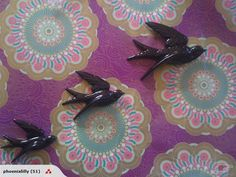 Retro Swallows Black Noir for sale on Trade Me, New Zealand's auction and classifieds website Red Glass, New Zealand, Swallows, Pottery, Crown, Retro, Purple, My Love, Handmade Gifts