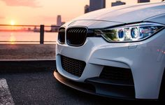 Wallpaper the sun, light, the city, BMW, white, series, F30, 335I images for desktop, section bmw - download