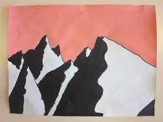 peindre les montagnes en maternelle - Recherche Google