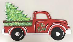 Customized Christmas Truck with Christmas Tree. Christmas Truck With Tree, Western Christmas, Christmas Door, Christmas Signs, Christmas Crafts, Christmas Decorations, Christmas Ornaments, Wood Decorations, Christmas 2019